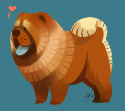 Chow Chow By Canvascope On Deviantart Animal Illustration