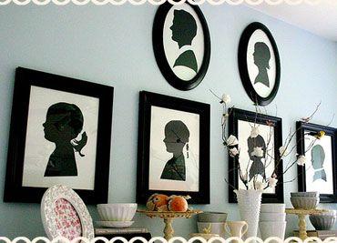 silhouette framed wall art, silhouette wall decor, silhouette decor, family tree silhouette
