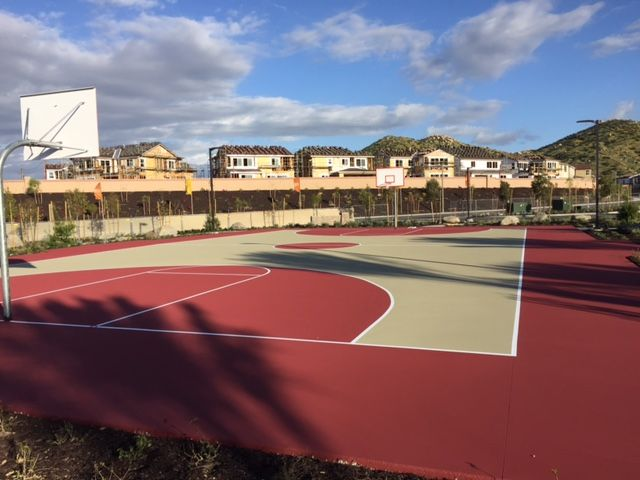 Basketball Court Construction With Gorgeous Color Combination Court Basketball Court Basketball