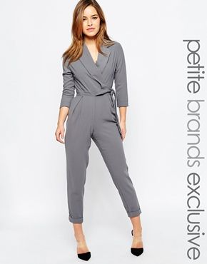 classic styles top-rated cheap for sale Alter Petite Tailored Jumpsuit With Wrap And Tie Belt Detail ...