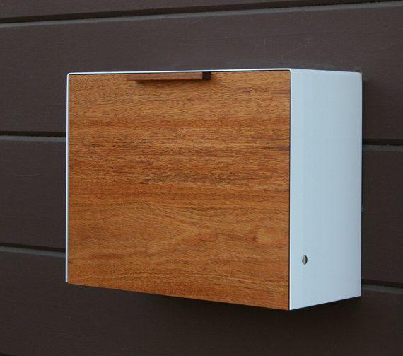 Modern Mailbox Large Mahogany Mailbox Wall Mounted Mailbox