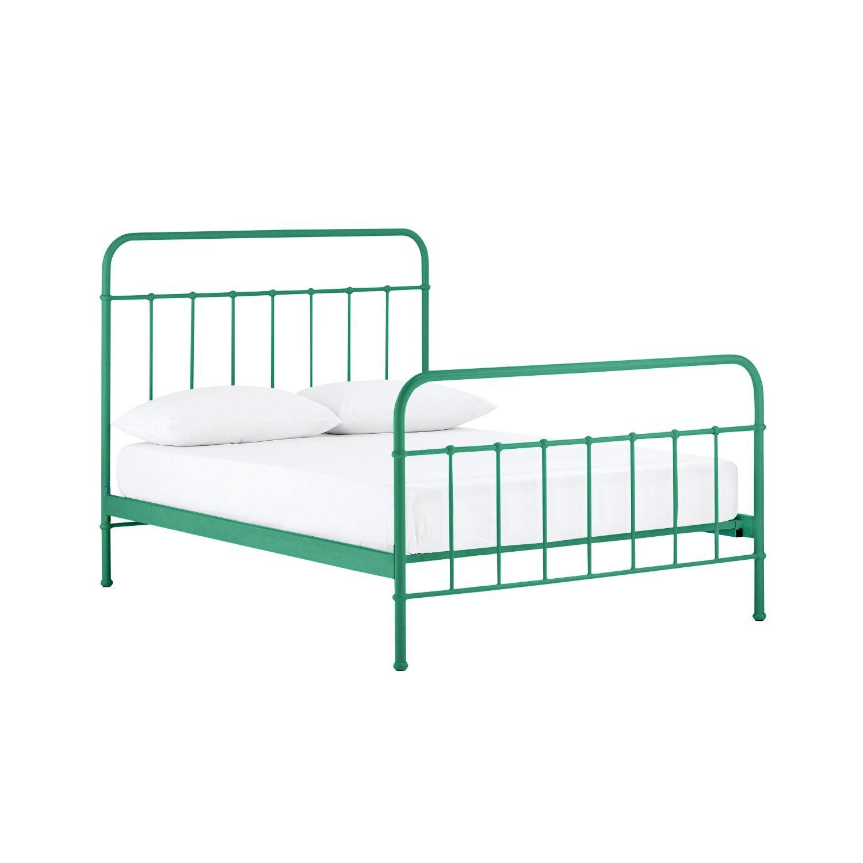 Sunday Emerald Green Bed Frame Domayne Online Store Metal Bed