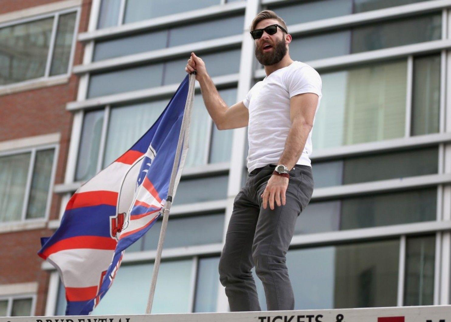 Julian Edelman Patriots Parade Julian Edelman New England Patriots Victory Parade