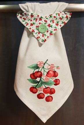 Free Project Instructions To Embroider A Topsy Towel