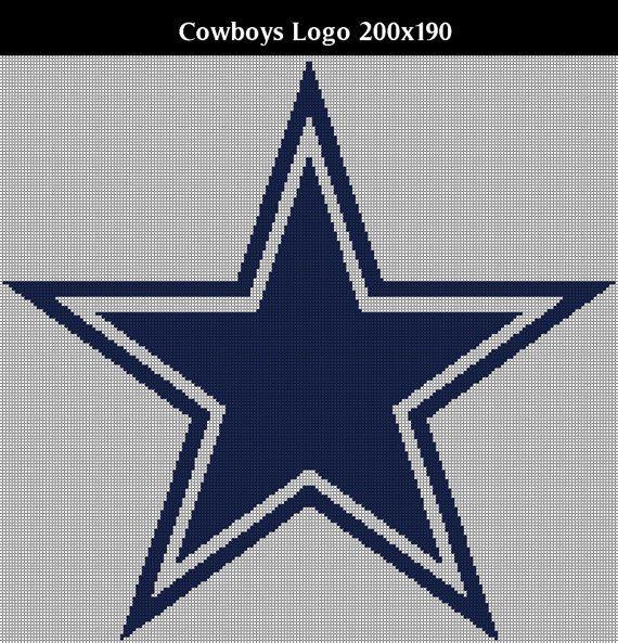 Dallas Cowboys Logo  Counted Cross Stitch by StitcherUniverse