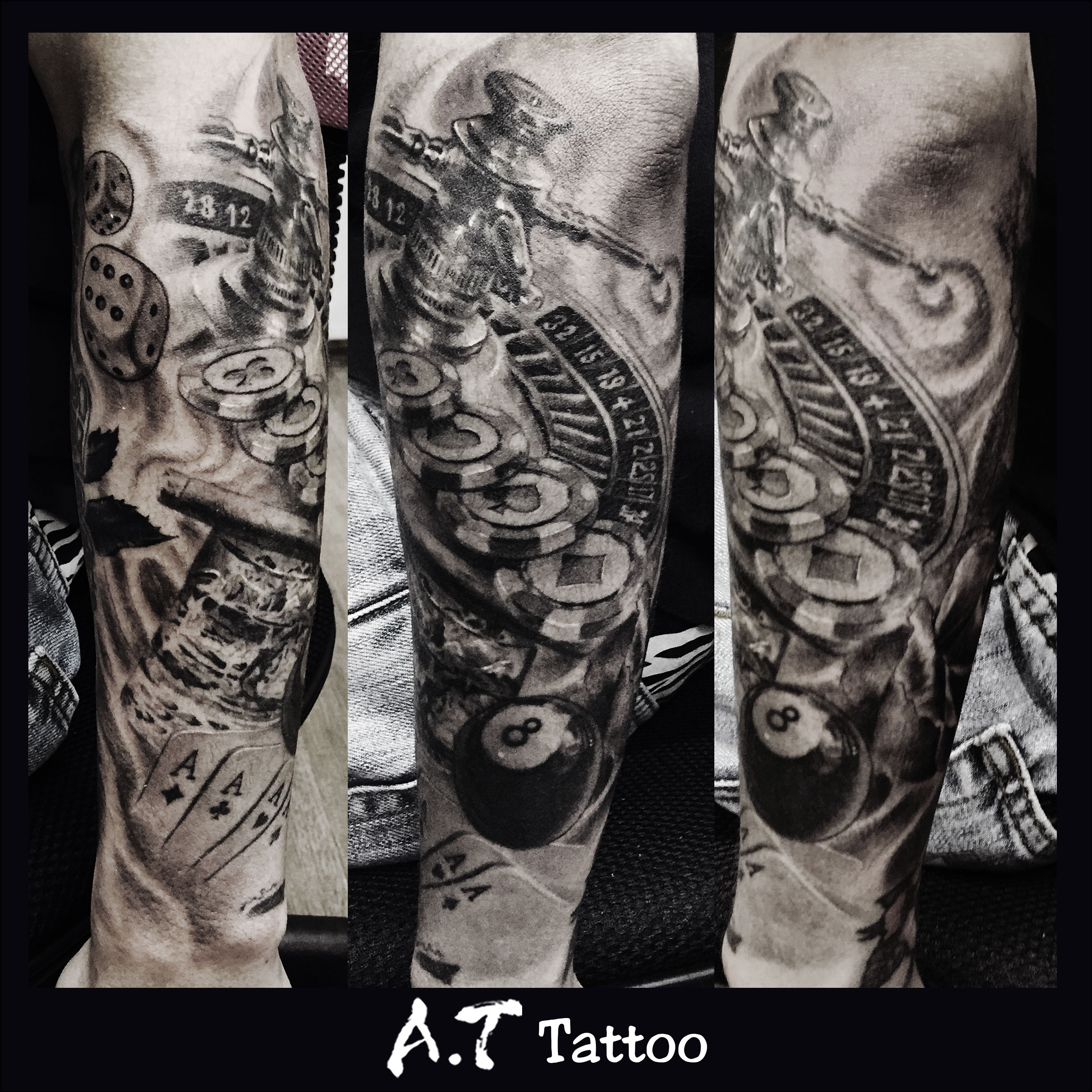Poker style tattoo