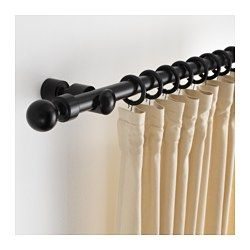 Syrlig Curtain Ring With Clip And Hook Black 1 1 2 Ikea