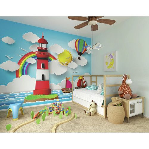 Found It At Wayfair Co Uk Rainbow Lighthouse Wall Mural