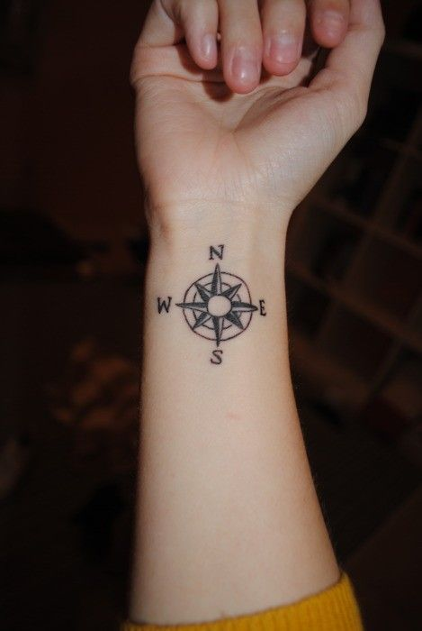 Compass Tattoo Tattoos Henna Pinterest Tatouage Tatouage