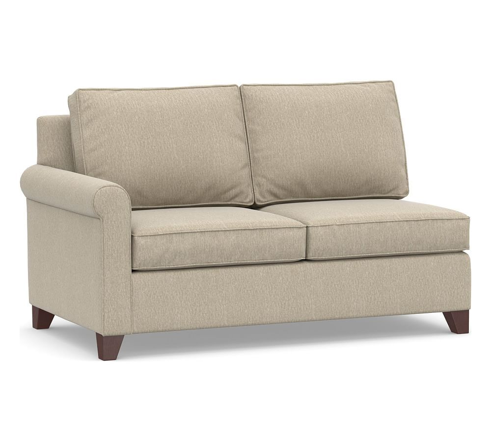 Cameron Roll Arm Upholstered Right Arm Loveseat Polyester Wrapped Cushions Organic Cotton Basketweave Stone Sleeper Sofa Full Sleeper Sofa Replacement Cushions