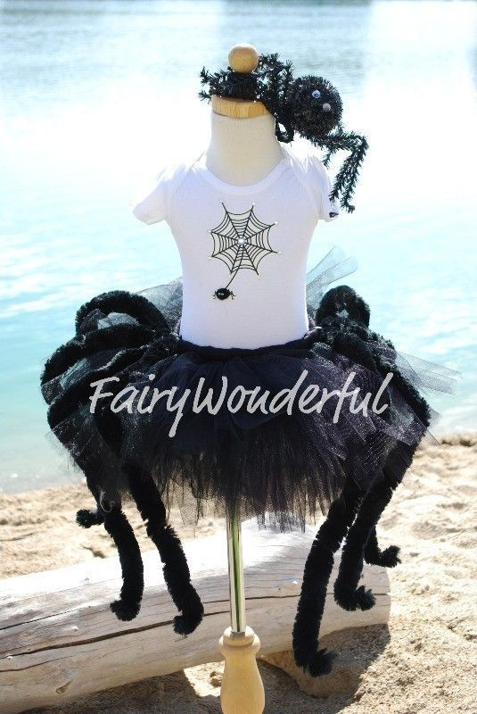 spooky spider halloween princess sewn tutu with by fairywonderful 3250 spider costume kidsgirl - Kids Spider Halloween Costume