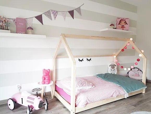 Lit maison gribouille ta chambre mon cabanon com dimensions pour matelas 90x190cm pieds ultra