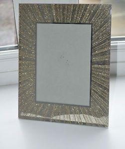 Sparkling Glitter Photo Frame In Gold Bling Glitter Photo