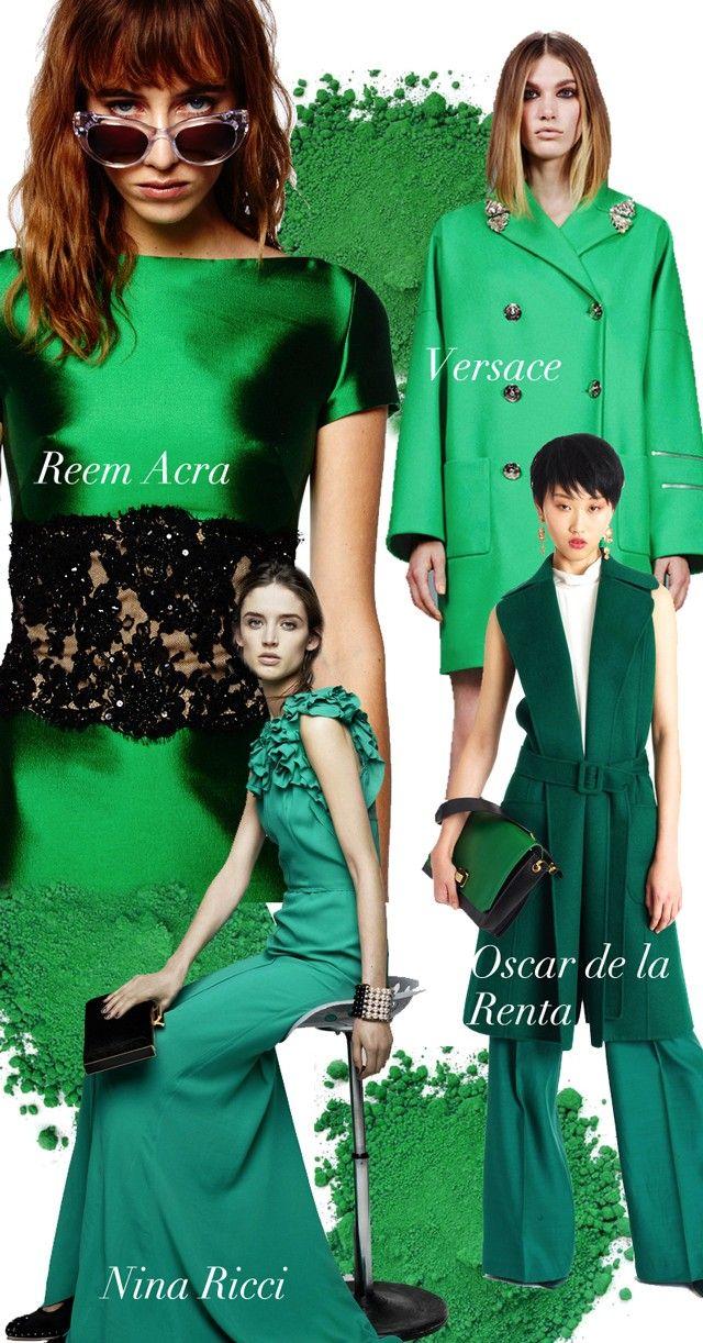 Green Pigment Pre-Fall 2014 Trend Council #DORLYDESIGNS: Pre-Fall 2014: Runway Designer Fashion Colour Trends Report