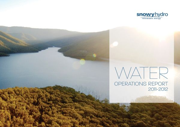 An awesome example of brochure design. Snowy Hydro Annual Report by Mo Hamdouna, via Behance