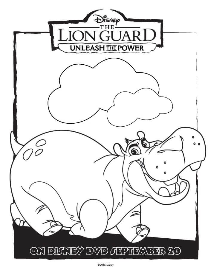 The Lion Guard Coloring Pages Unleash The Power Printables