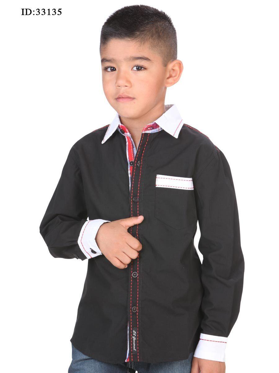 El Black Casual Niño Camisa 33135 35 Polyester General 65 Cotton tq7U6vw