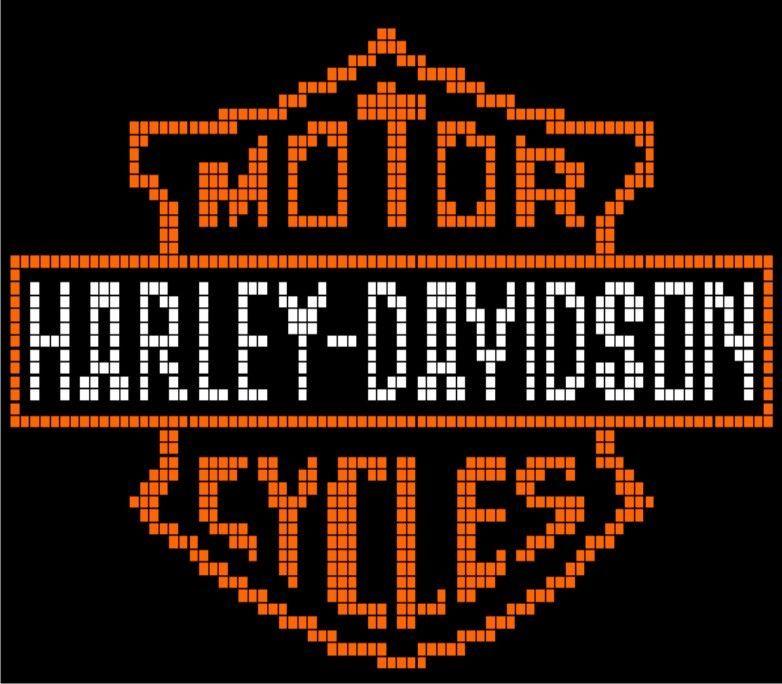 Harley Davidson Pillow P3 Via Loopaghans Custom Crochet Click On