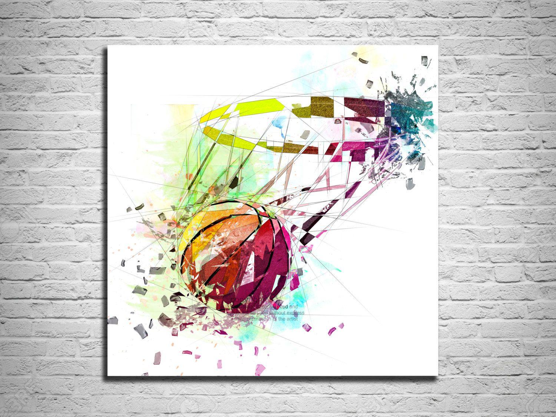 Jordan Wall Sticker Canvas Print Basketball Art Sports Wall Art Basketball