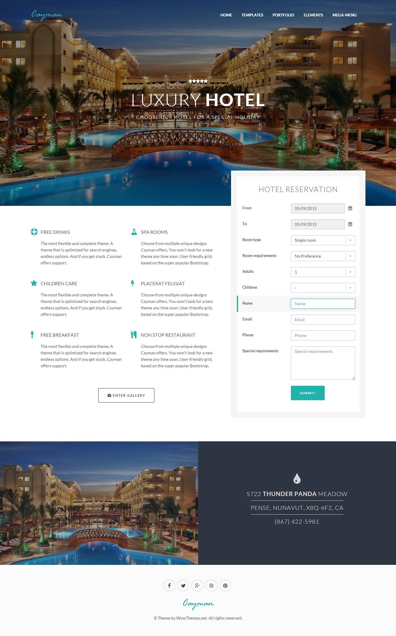 Cayman HTML Bootstrap Theme PageAnimationsBusiness