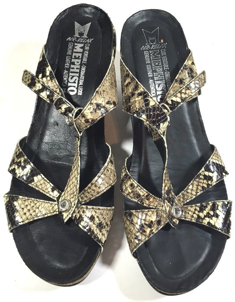 Mephisto Wedge Sandals Air Relax Size 39 US 9 Mephisto