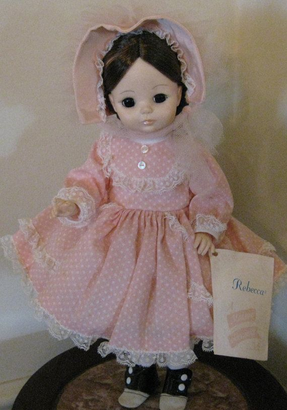 5848c5b379584 Vintage 1960s Madame Alexander doll Rebecca 13 inch with tag ...