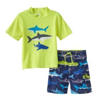 4d675c5cf Carter's Shark 2-pc. Rash Guard & Swim Trunks Set - Boys 4-7 | Nate ...