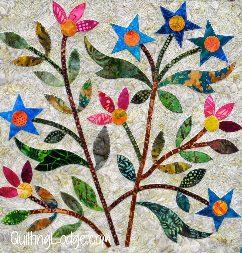 Spring Bouquet Quilt: machine appliquéd and quilted, Edyta Sitar ... : orchid quilt pattern - Adamdwight.com
