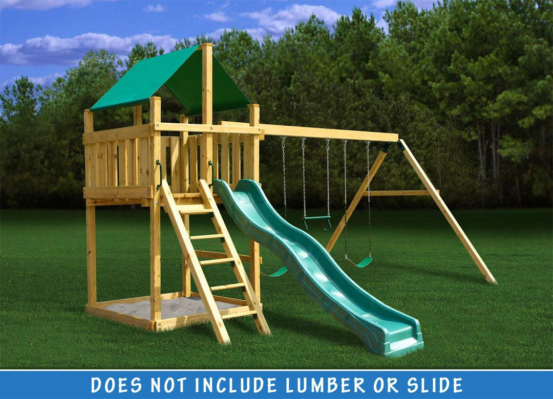 Discovery Fort with Swing Set DIY Kit Swing set diy