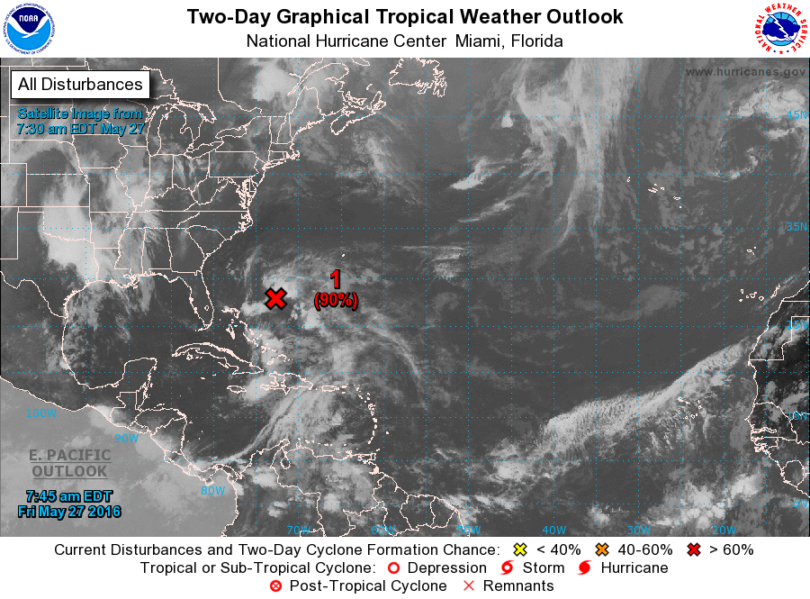 Atlantic 2 Day Graphical Tropical Weather Outlook National Hurricane Center Hurricane Tropical