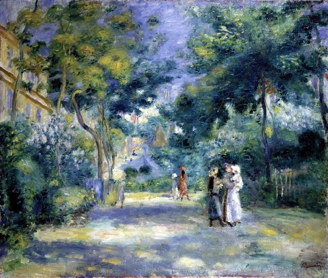 The Garden in Montmartre by Pierre-Auguste Renoir