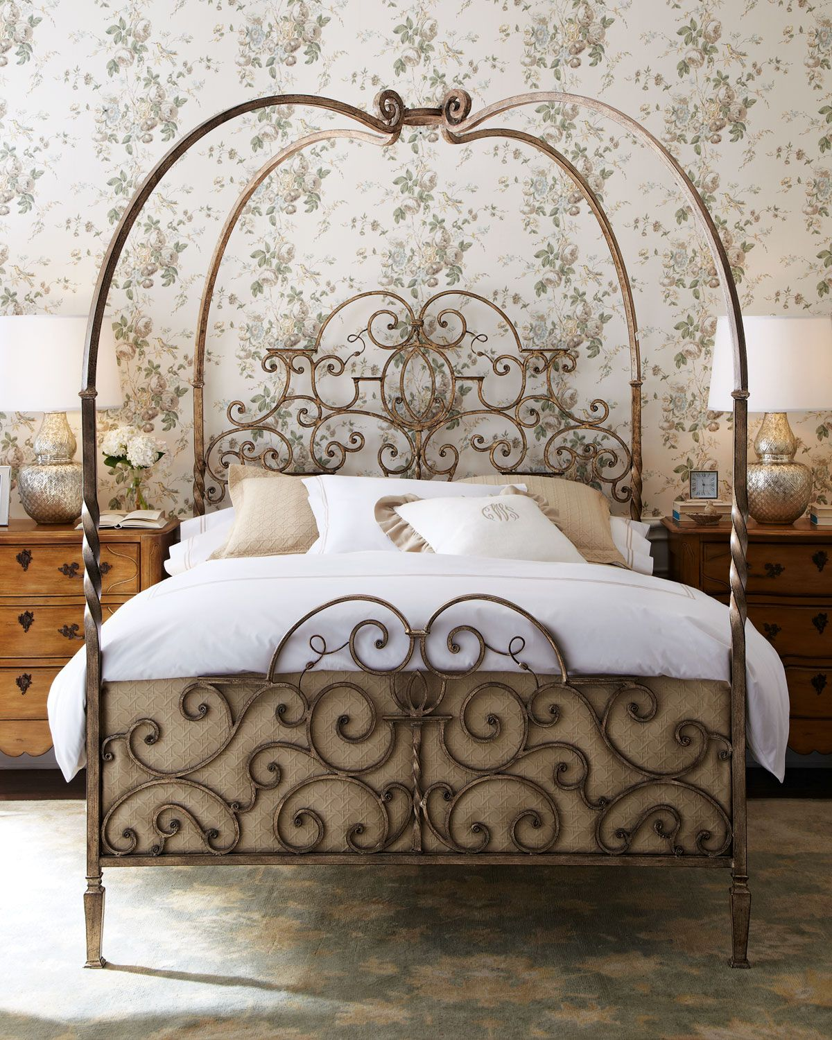 Adelaide King Poster Bed | Tuscany, Bedrooms and Iron