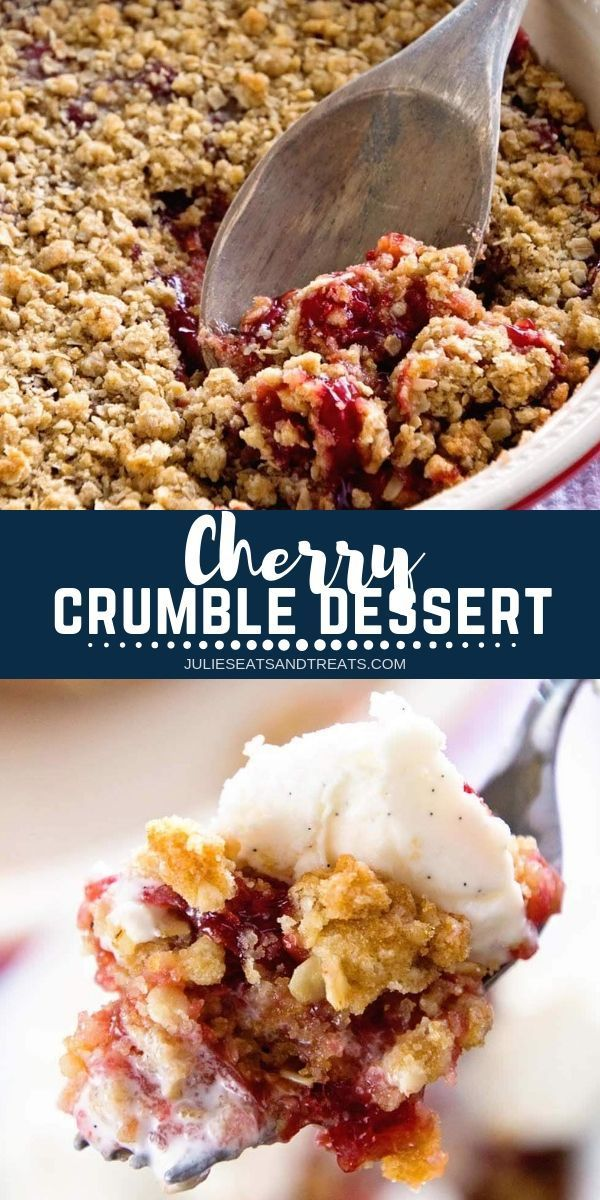 With only five ingredients this Cherry Crumble recipe is super easy and deliciou…