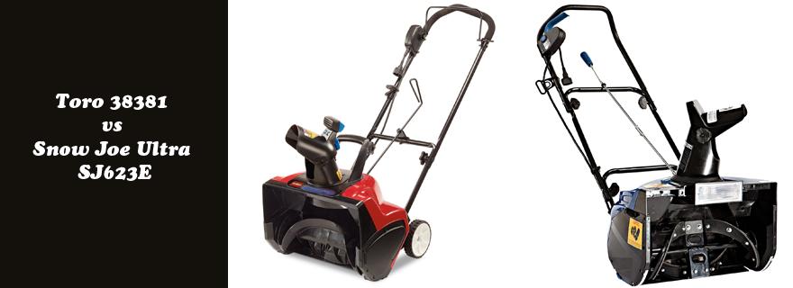 Top Corded Electric Snow Blower Toro 38381 Vs Snow Joe Ultra Sj623e Electric Snow Blower Lawn Mower Snow Blower