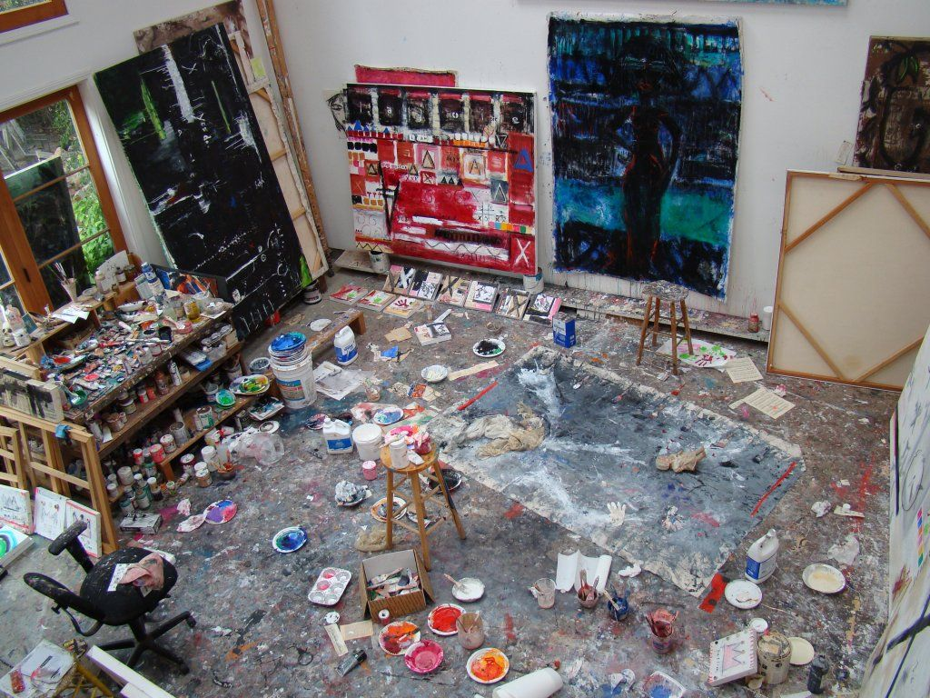 This is how my art room would look paint splattered
