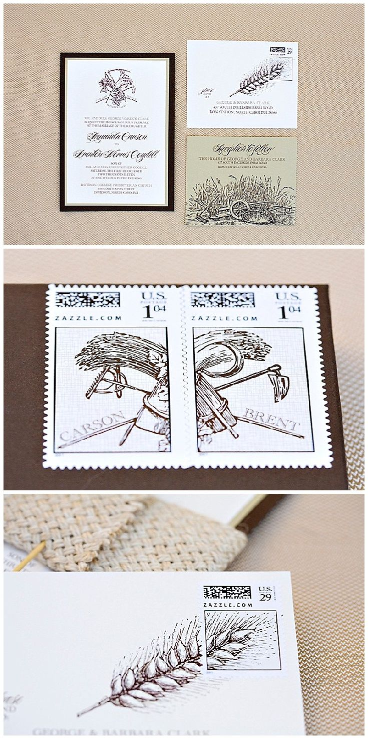 Burlap and Wheat Wedding Invitations | Hessian, Response cards and ...