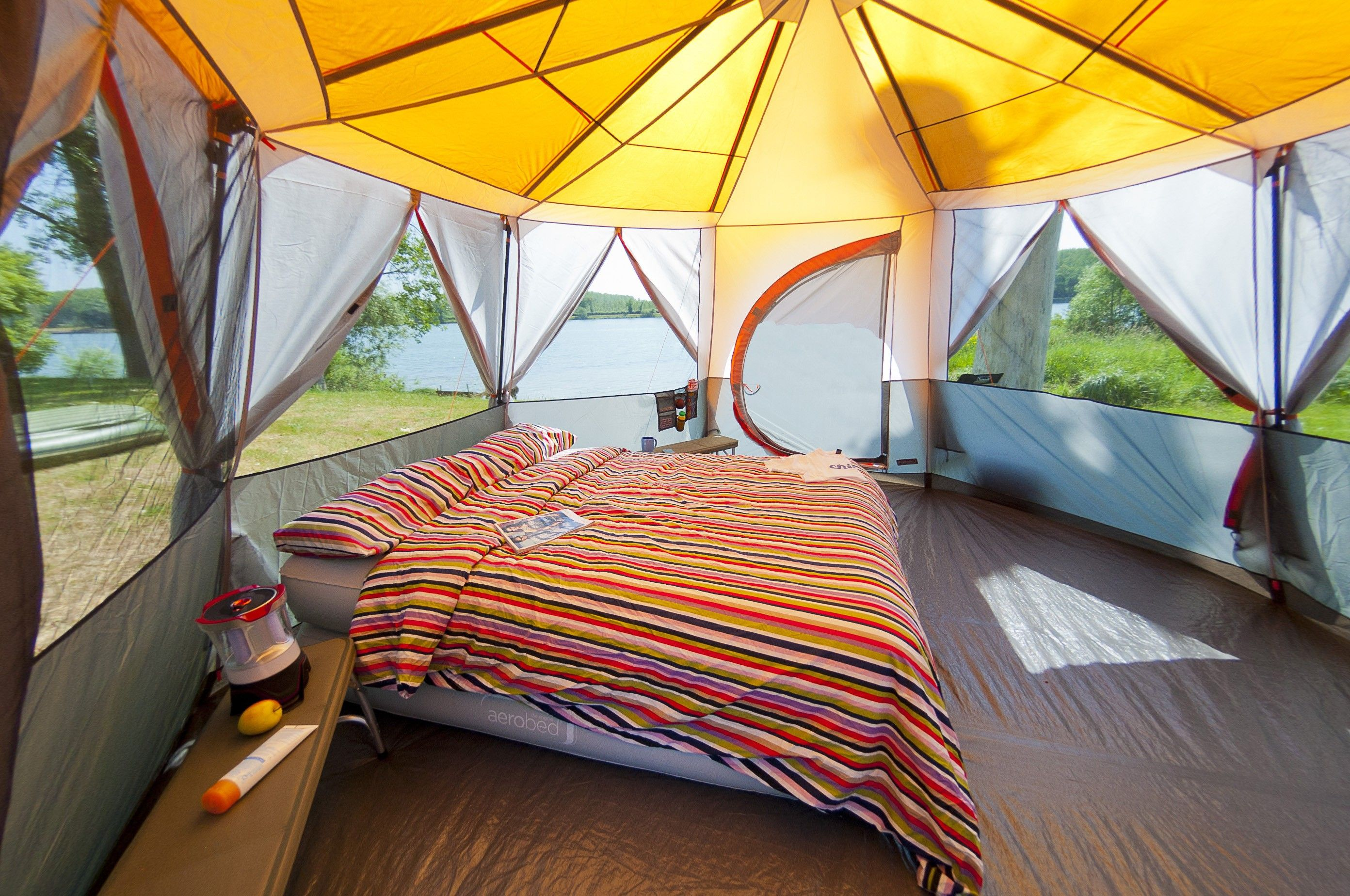 Inside the Coleman 8 Octagon Tent & Inside the Coleman 8 Octagon Tent | My Glamping Bedroom ...