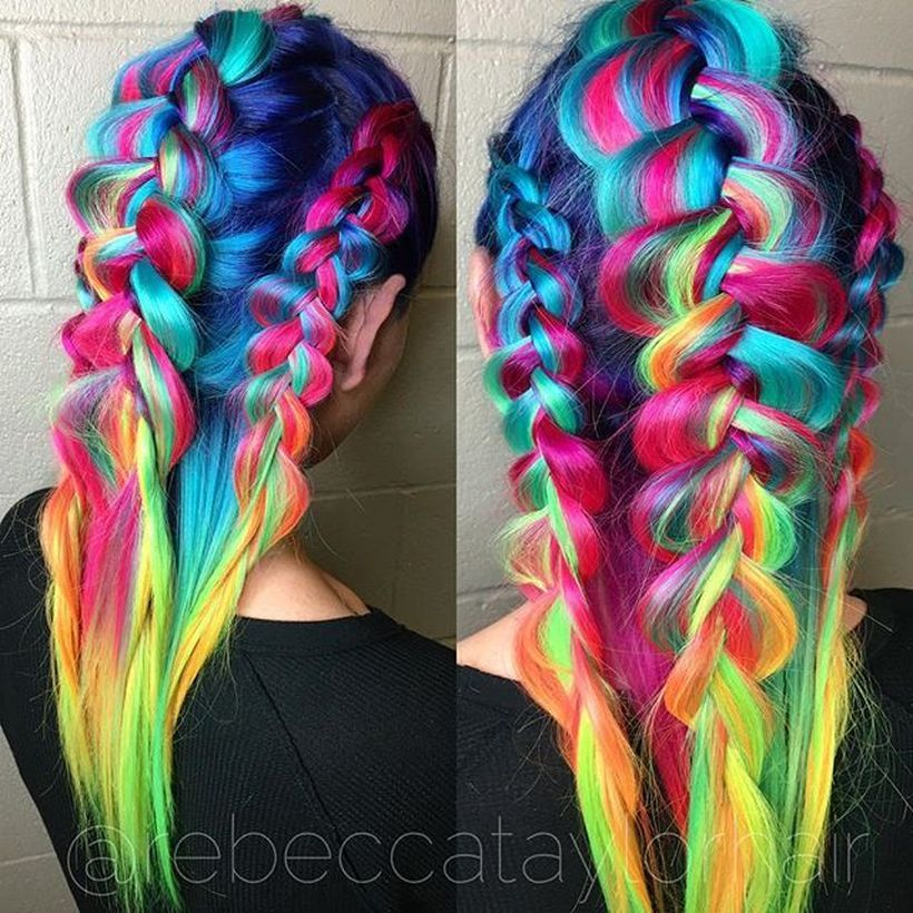 crazy colorful hair colour ideas