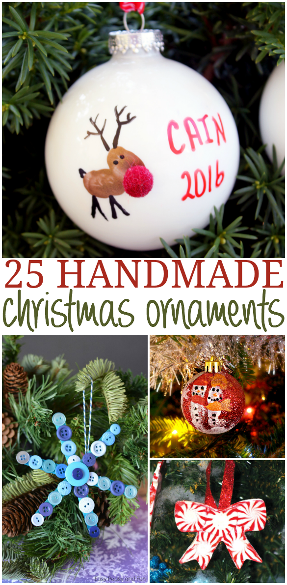 25 Handmade Christmas Ornaments for the holidays - because handmade and homemade is always better!