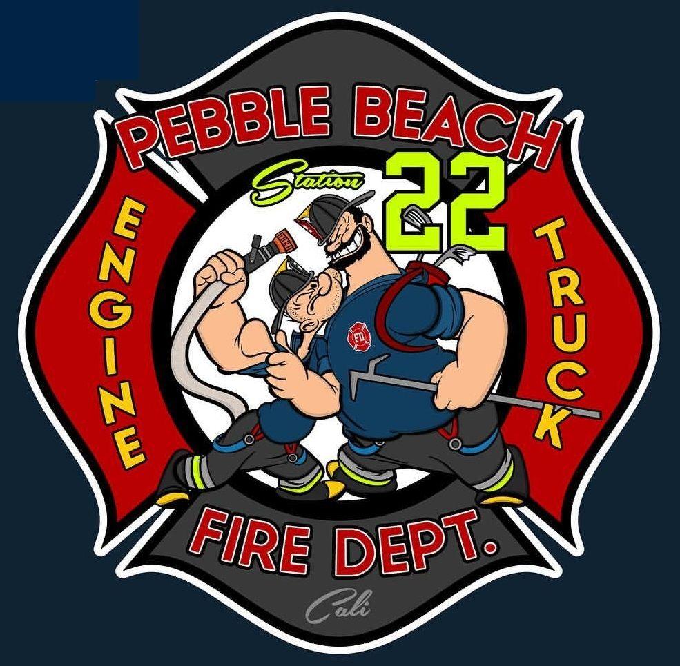 Pebble Beach Fire Dept. Fire service, Beach fire