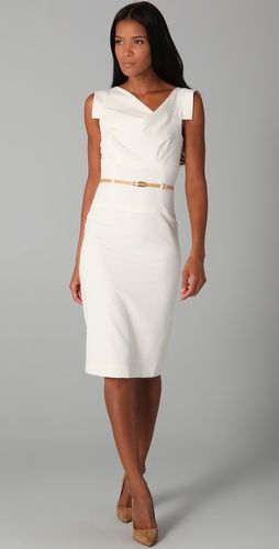 e28d8ac9105 The perfect white summer dress for work - cover up with a blazer or light  sweater