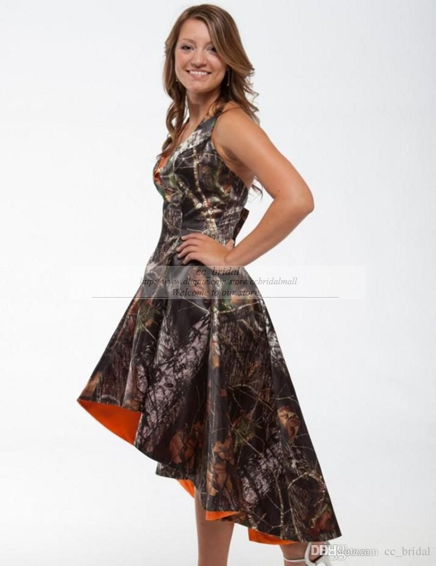 Formal camouflage dresses image collections dresses design ideas cheap camo wedding dresses sexy a line halter neckline high low camo wedding dresses sexy a ombrellifo Image collections