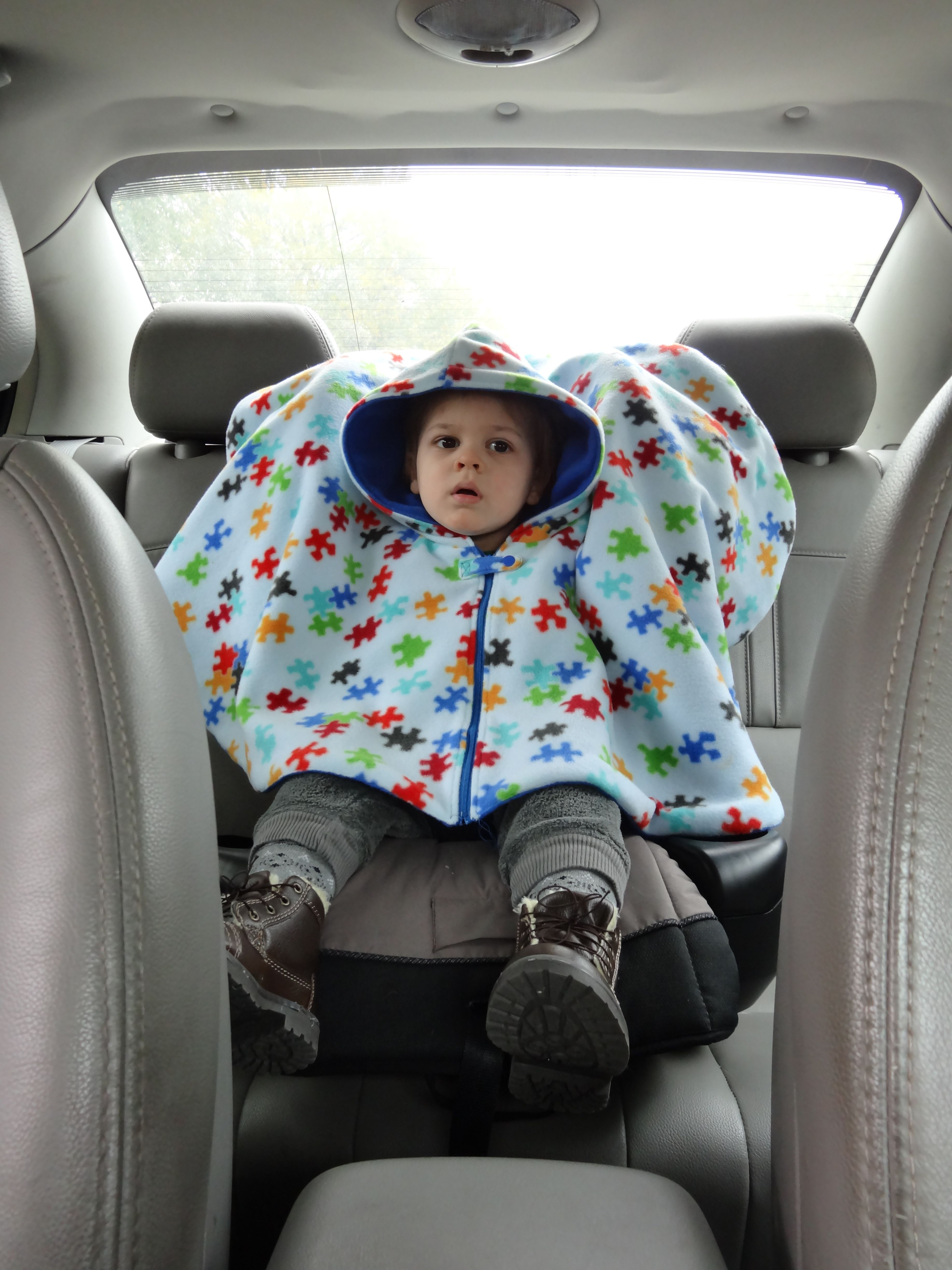 Carseat Poncho Using The Riding Hood Pattern From Suat