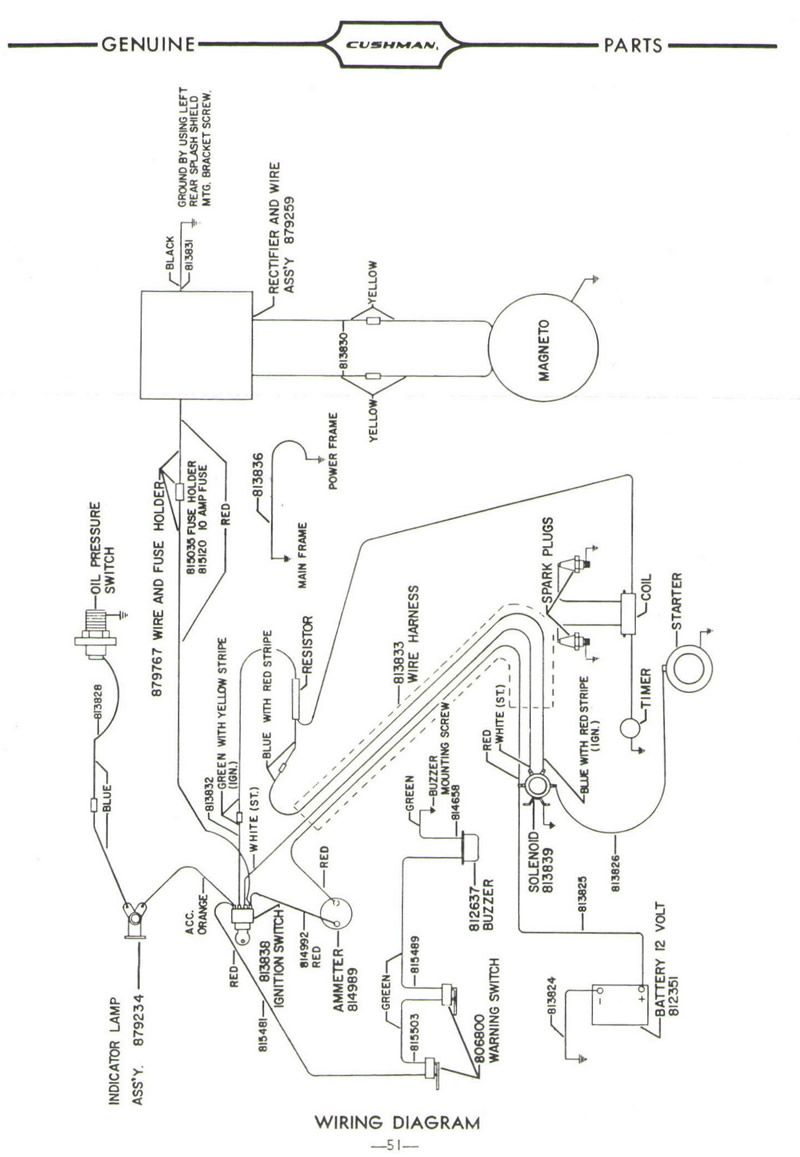 cushman wiring diagrams cushman gasoline golfster model 735 models 878915 879717 880000 880017 880022 [ 800 x 1157 Pixel ]