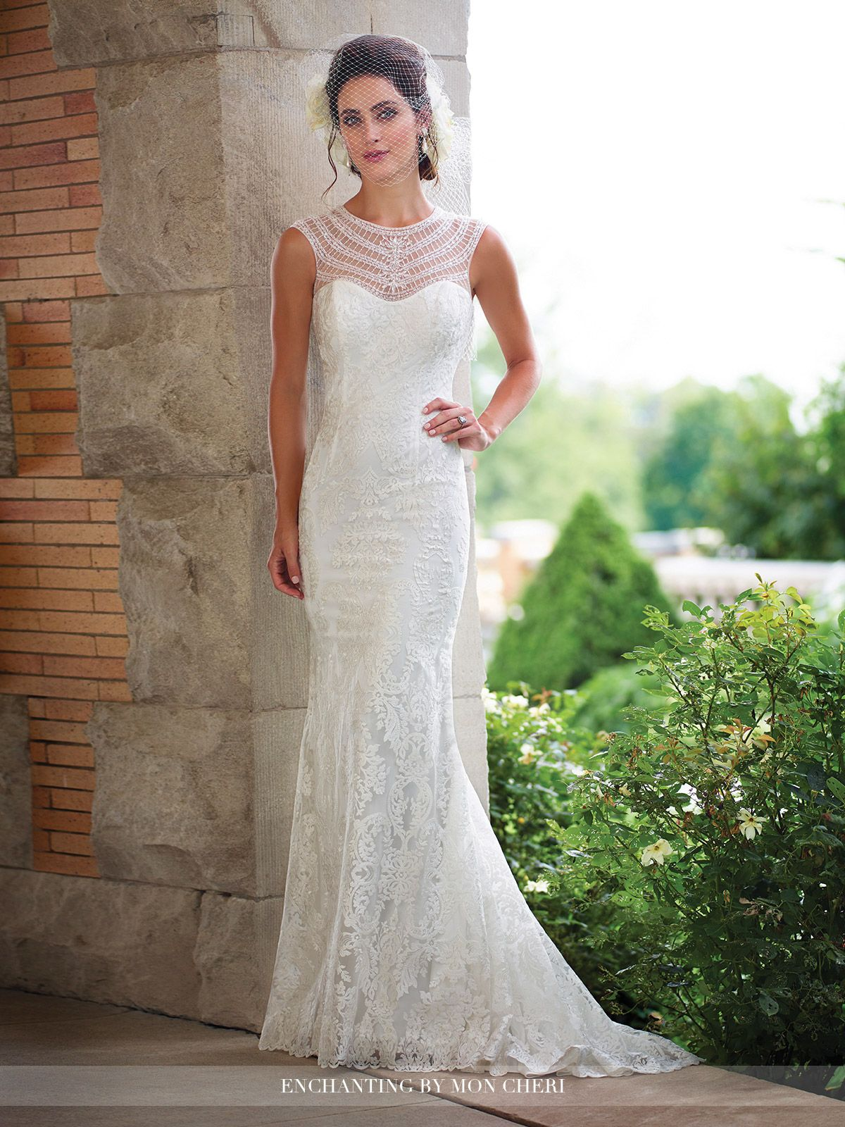 Lace wedding dress with cap sleeves sweetheart neckline    Lace Illusions and Colors