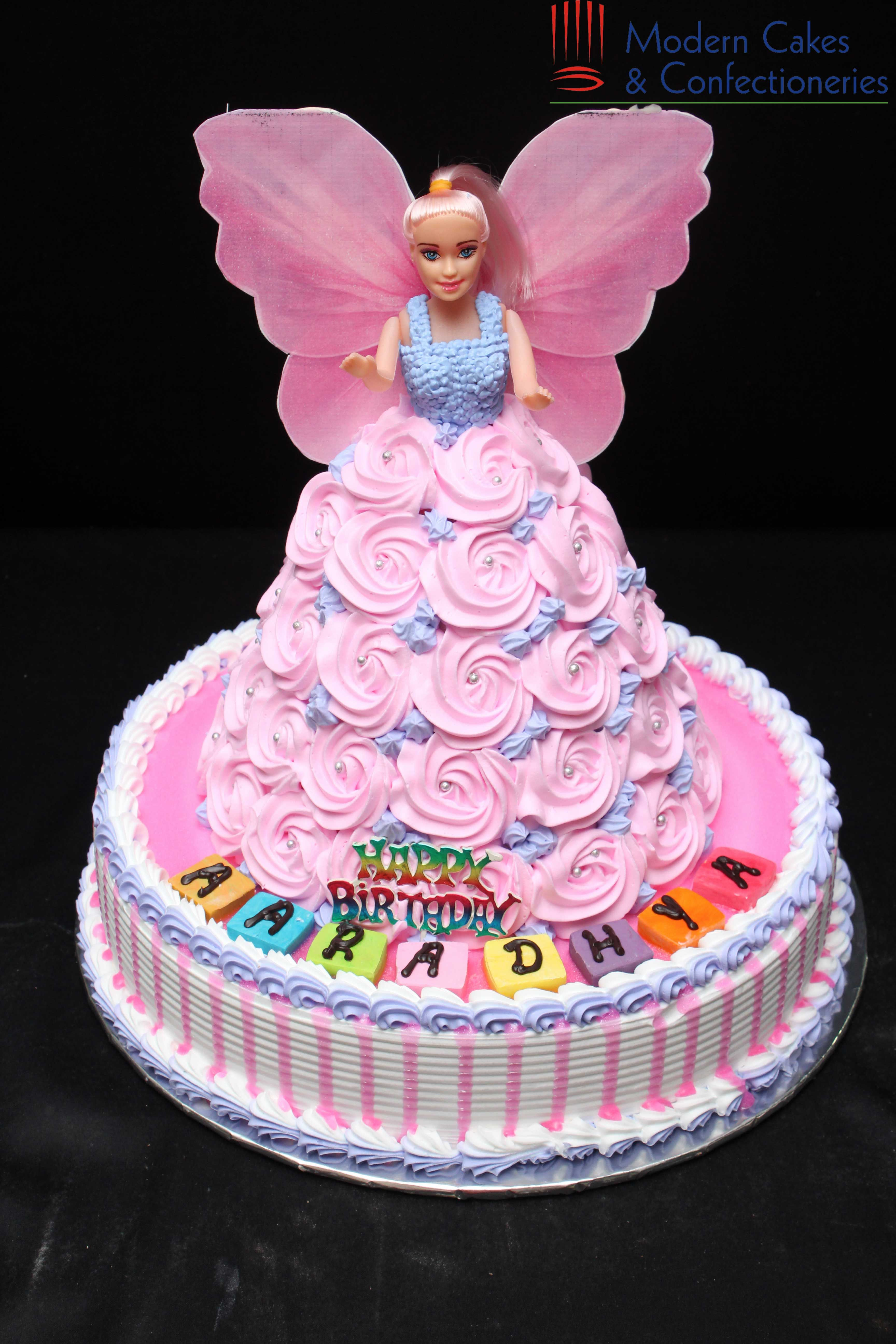 Fabulous Pink Barbie Doll Cake With Images Baby Girl Birthday Cake Personalised Birthday Cards Veneteletsinfo