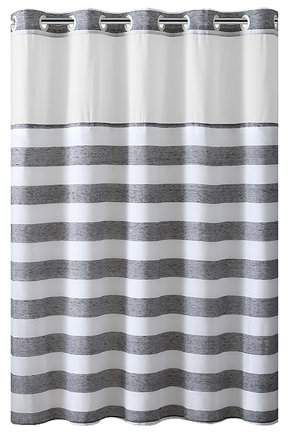 Home Striped Shower Curtains Shower Curtains Walmart Hookless