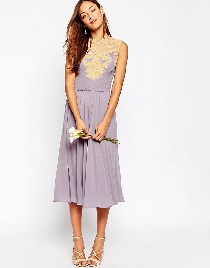 Asosweddinglaceappliquemididress ginas bridesmaid dresses discover the latest dresses with asos from party midi and maxi dresses to day and going out dresses and more shop from thousands of dresses with asos ombrellifo Images