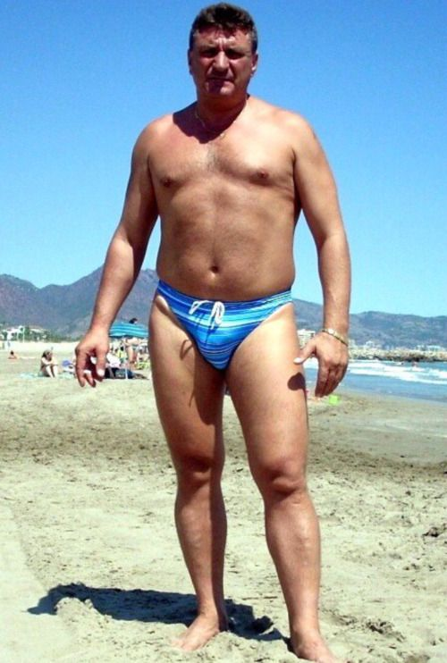 gay couple photo ideas - Mature speedo men man bulge