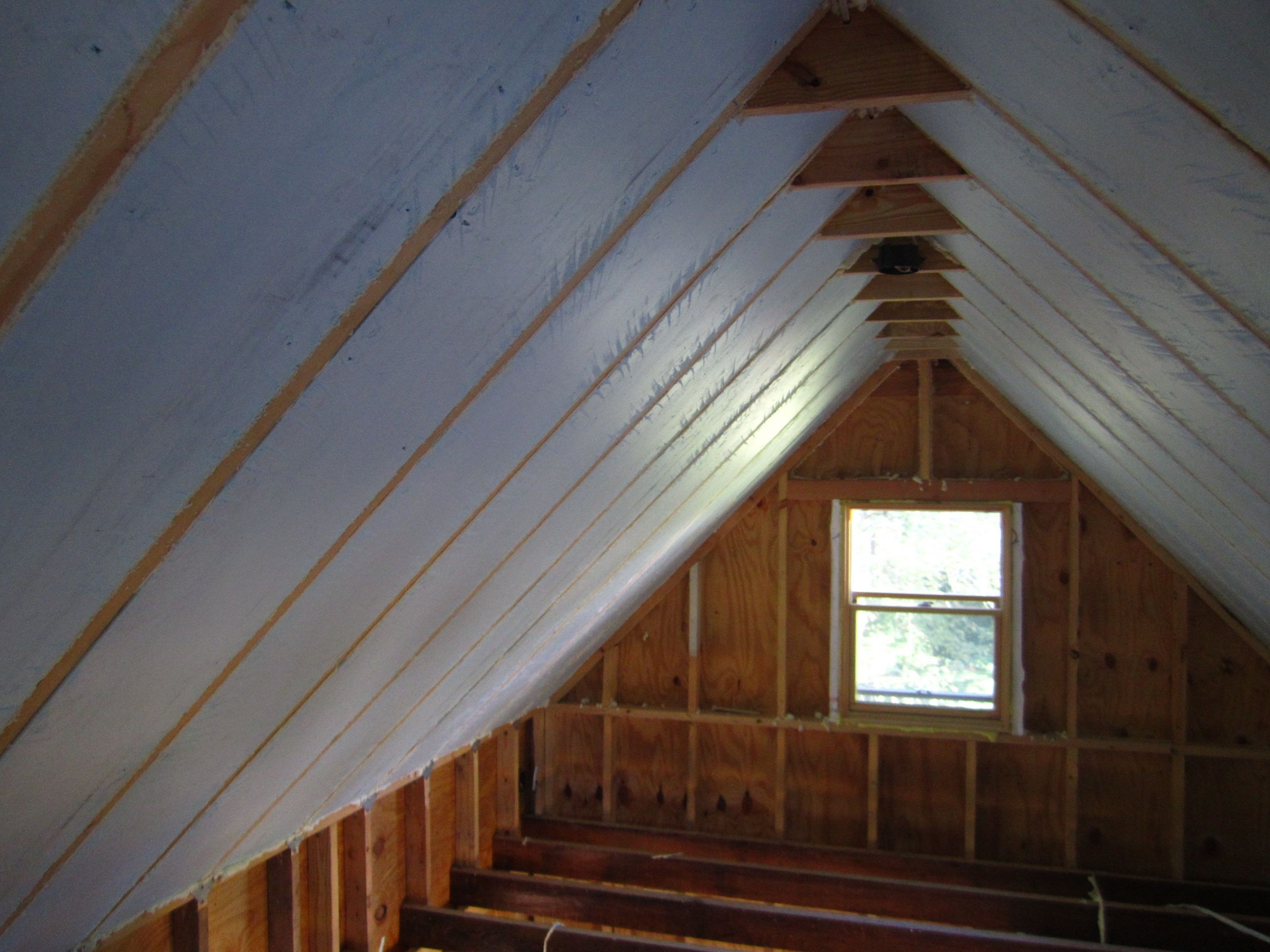 Image result for blow in attic insulation with open